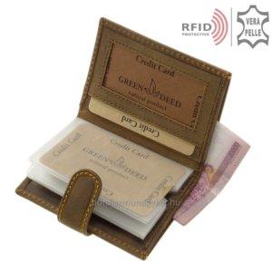 Bőr kártyatartó RFID blokkolóval GreenDeed GRS2038