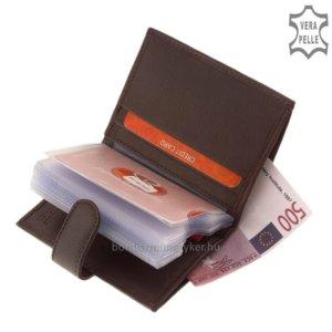 Bőr női kártyatartó RO08 barna
