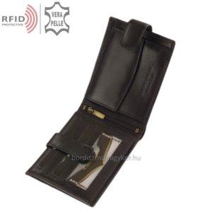Bőr pénztárca fekete Giultieri RF6002L/T