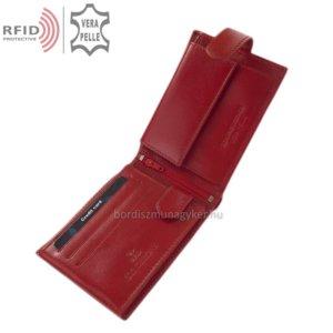 Bőr pénztárca RFID védelemmel piros RG1021/T