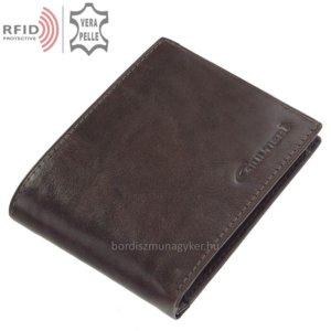Bőr pénztárca sötétbarna Giultieri RF09