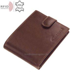 Bőr pénztárca világosbarna Giultieri RF102/T