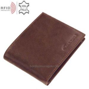 Bőr pénztárca világosbarna Giultieri RF1021