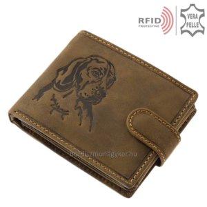 Bőr pénztárca vizsla mintával RFID MVR08/T
