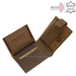 Bőr pénztárca vizsla mintával RFID MVR09/T