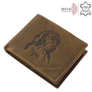 Bőr pénztárca vizsla mintával RFID MVR1021