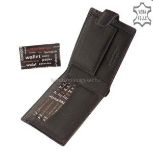 Corvo Bianco fekete pénztárca SFC09/T