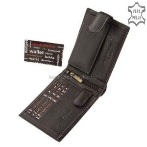 Corvo Bianco fekete pénztárca SFC1021/T