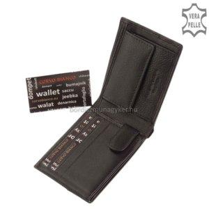 Corvo Bianco fekete pénztárca SFC102
