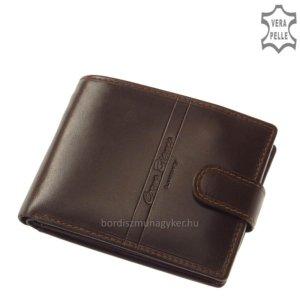 Corvo Bianco Luxury bőr férfi pénztárca RFID RCBS6002L/T barna