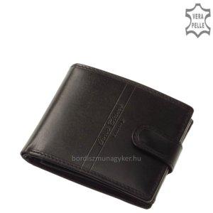 Corvo Bianco Luxury bőr férfi pénztárca RFID RCBS6002L/T fekete