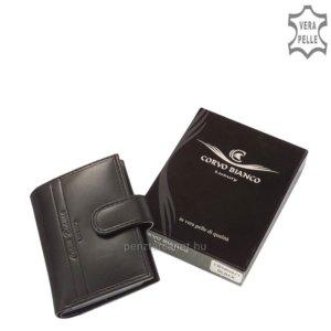 Corvo Bianco Luxury bőr kártyatartó fekete CBS808/T