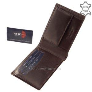 Corvo Bianco Luxury férfi pénztárca barna RFID RCBS09