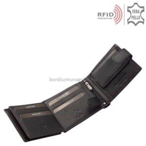 Férfi pénztárca valódi bőrből fekete RFID Corvo Bianco MUR08/T