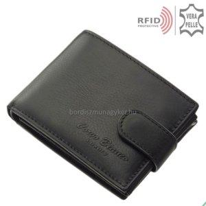 Férfi pénztárca valódi bőrből fekete RFID Corvo Bianco MUR102/T