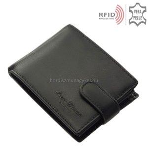 Férfi pénztárca valódi bőrből fekete RFID Corvo Bianco MUR1021/T