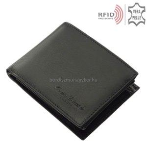 Férfi pénztárca valódi bőrből fekete RFID Corvo Bianco MUR1021