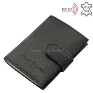 kártyatartó valódi bőrből fekete RFID Corvo Bianco MUR2038/T