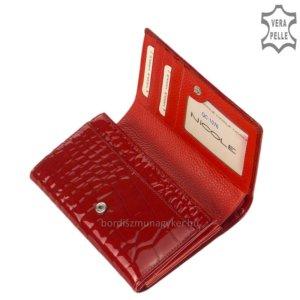 Nicole Croco női bőr pénztárca piros C57006-145
