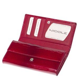 Nicole croco női bőr pénztárca piros C64003-014