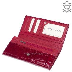 Nicole Croco női bőr pénztárca piros C72037-044