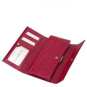 Nicole croco női bőr pénztárca piros C72402-014