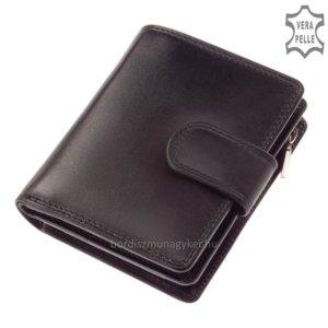 Női bőr pénztárca fekete SLM 511