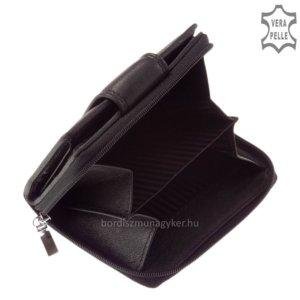 Női bőr pénztárca fekete SLM AK81