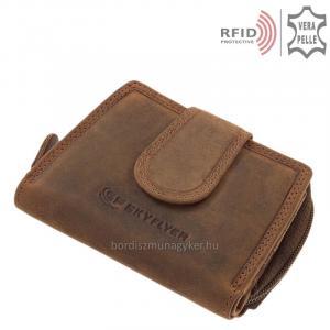 SKYFLYER női pénztárca RFID védelemmel DWR3203-BARNA