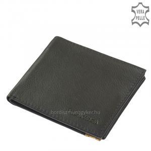 Slim bőr pénztárca La Scala M-002 fekete