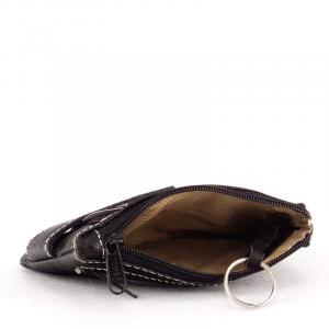 SLM bőr kulcstartó fekete SE202