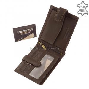 Valódi bőr férfi pénztárca barna Vester SVT6002L/T
