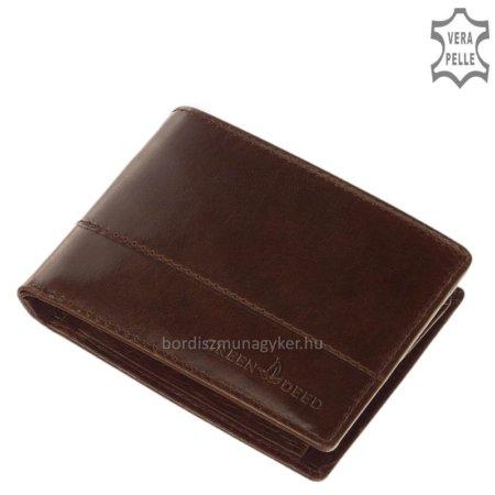 Bőr férfi pénztárca GreenDeed barna PAV09
