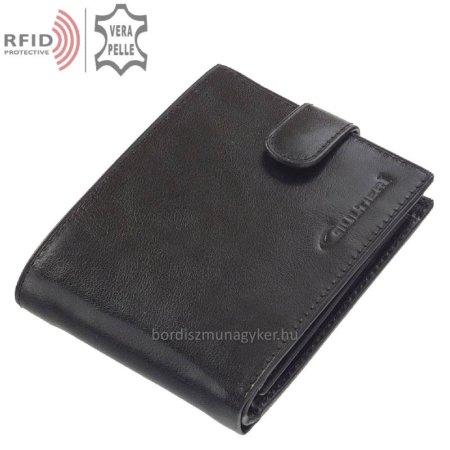 Bőr pénztárca fekete Giultieri RF1021/T