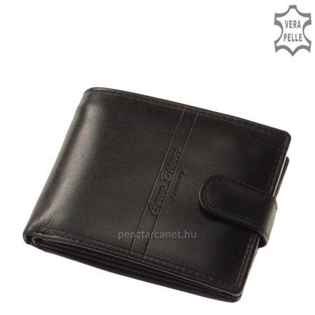 Corvo Bianco Luxury bőr férfi pénztárca CBS1027/T fekete
