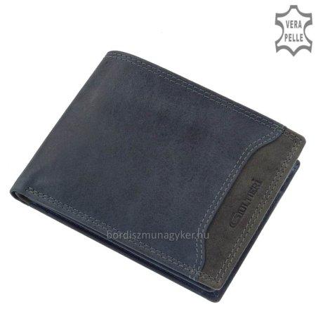 Férfi bőr pénztárca kék Giultieri COM120