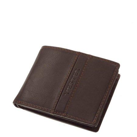 Finom bőr Vester férfi pénztárca sötétbarna VMF102