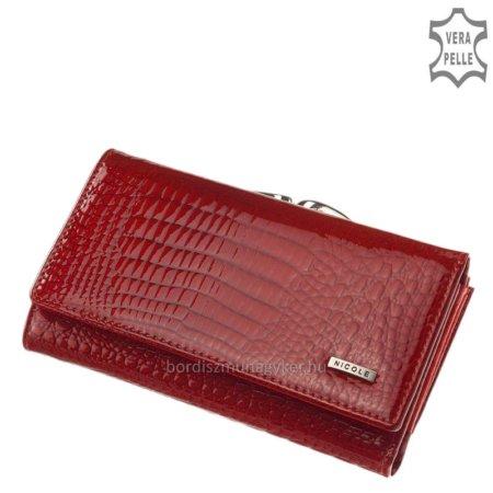 Nicole Croco női bőr pénztárca piros C55021-014